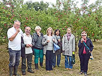 Carers visit to Jealotts Hill orchard