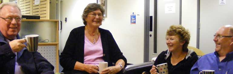 Carers drinking tea